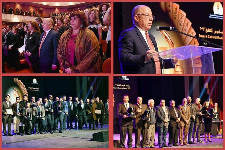 وزير الثقافة في توزيع جوائز ساويرس الثقافية