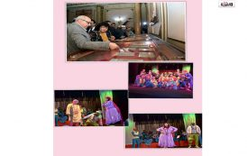 المسرح بين ايديك في جامعات مصر : وزير الثقافة تطلق قوافل التنوير المسرحية بالسيرة الهلامية من جامعة عين شمس